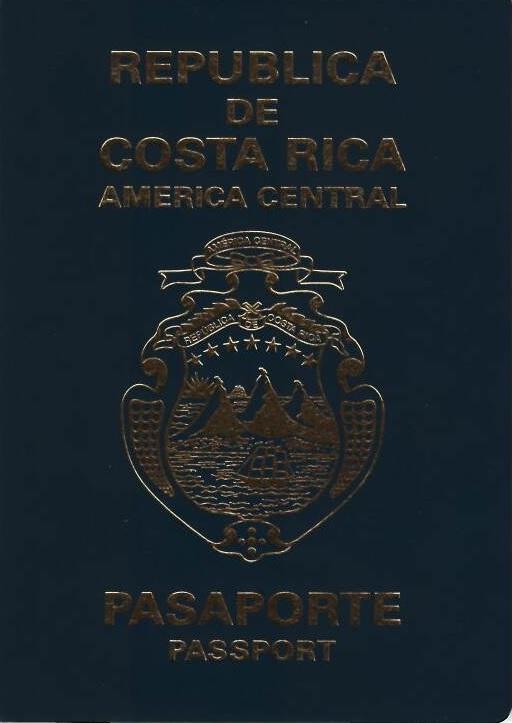 Costa Rican passport  Wikipedia
