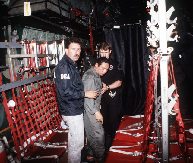 Manuel Noriega With Agents From The U S Dea Jpg
