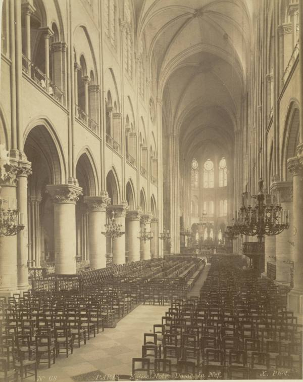 File Paris. Notre Dame Cathedral Nave Ca. 1877-ca. 1895