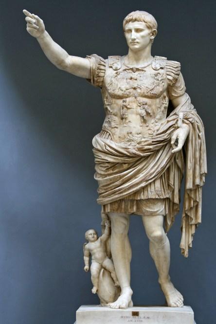 Statue of Augustus Prima Porta via Wikicommons