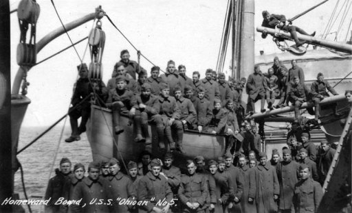 US soldiers returning to America after WWI