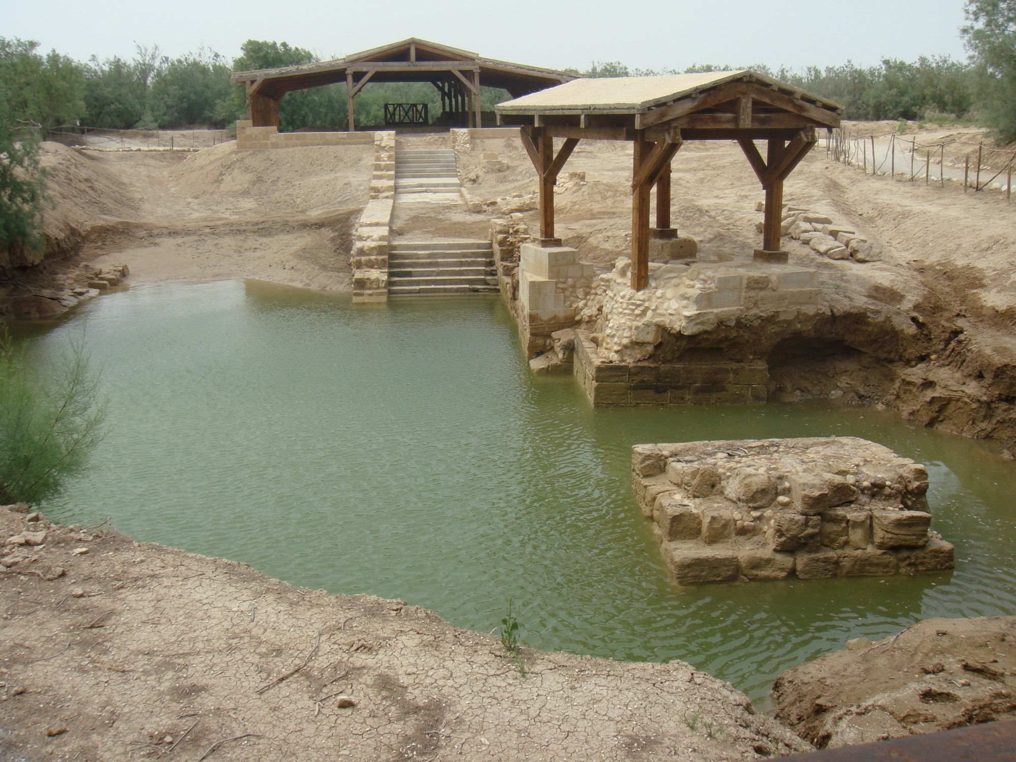 hight resolution of al maghtas ruins on the jordanian side of the jordan river are the location for the baptism of jesus and the ministry of john the baptist