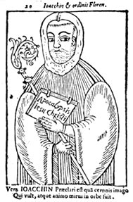 Joachim of Flora, in a 15th century woodcut