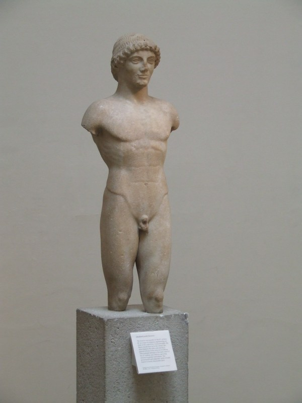 marble statue of a kouros