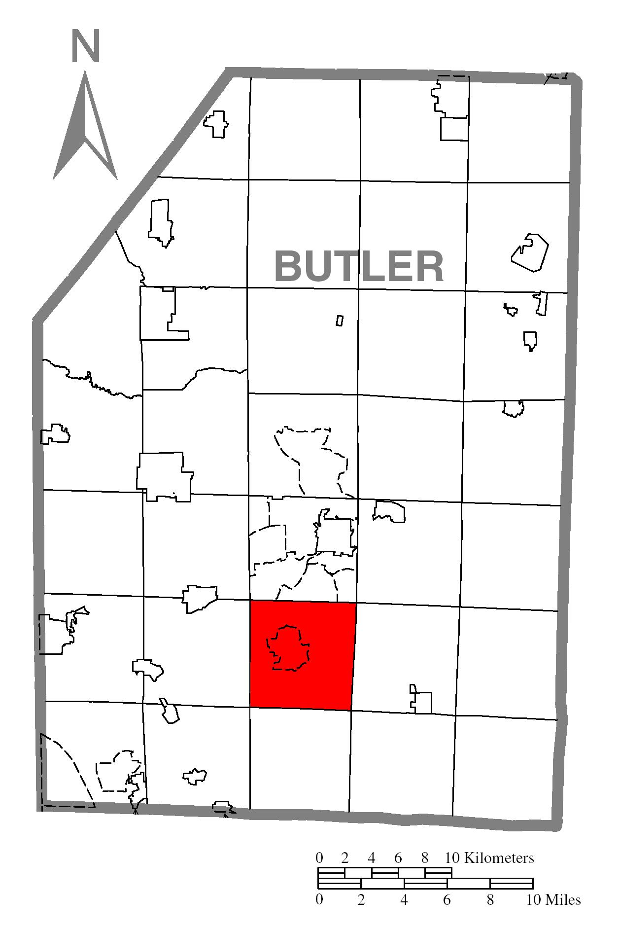 File:Map of Penn Township, Butler County, Pennsylvania