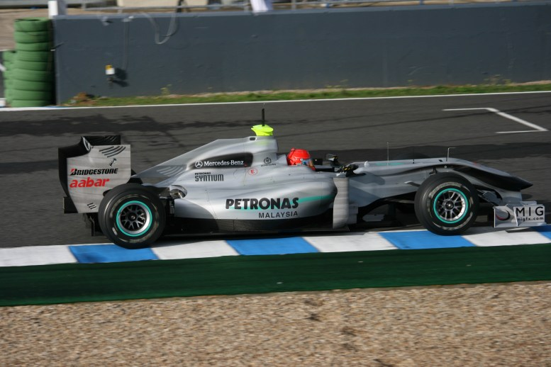 Test mercedes schumacher 2010