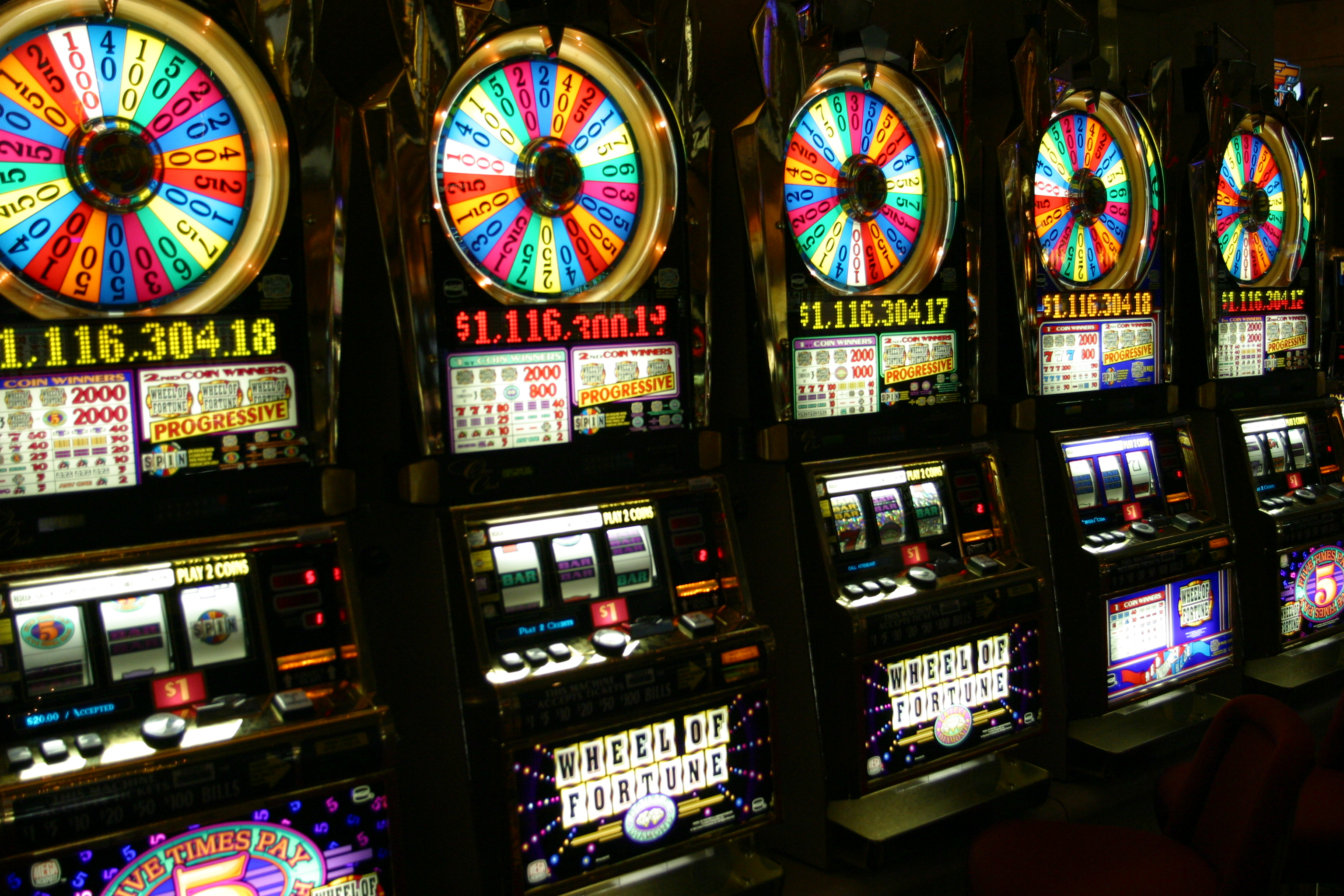slots and roulette shiny in casino
