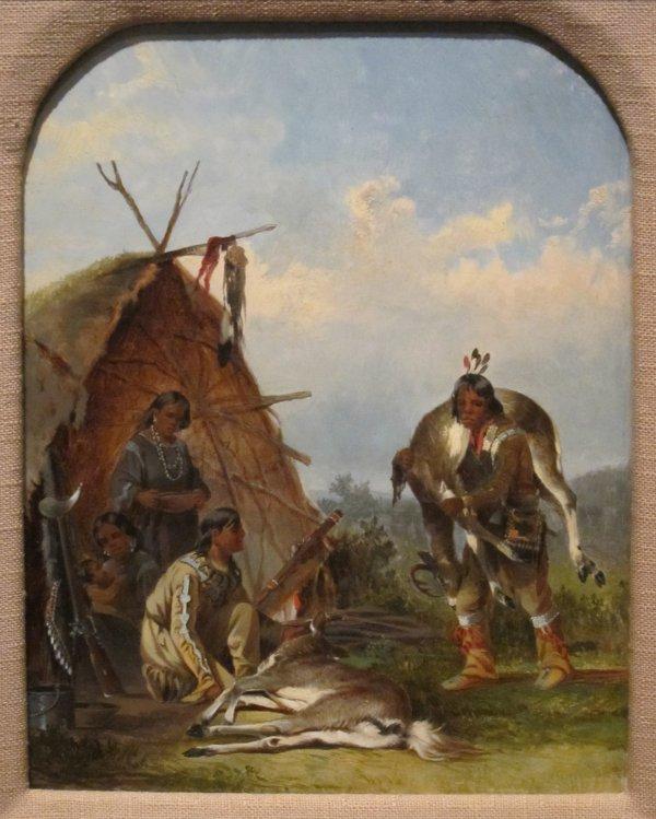File 'indians With Deer' John Mix Stanley Cincinnati Art - Wikimedia Commons