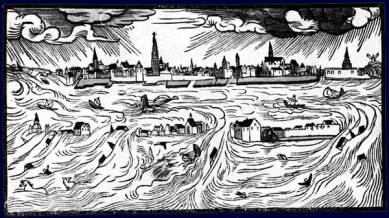 Image result for All Saints' Flood devastates the Dutch coast