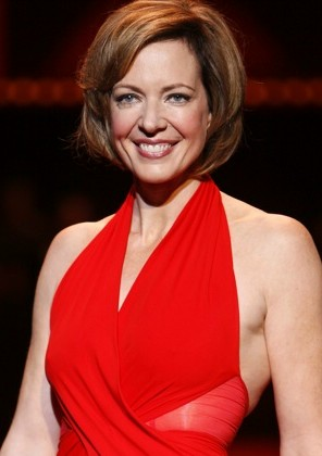 Allison Janney modeling at The Heart Truth Fas...