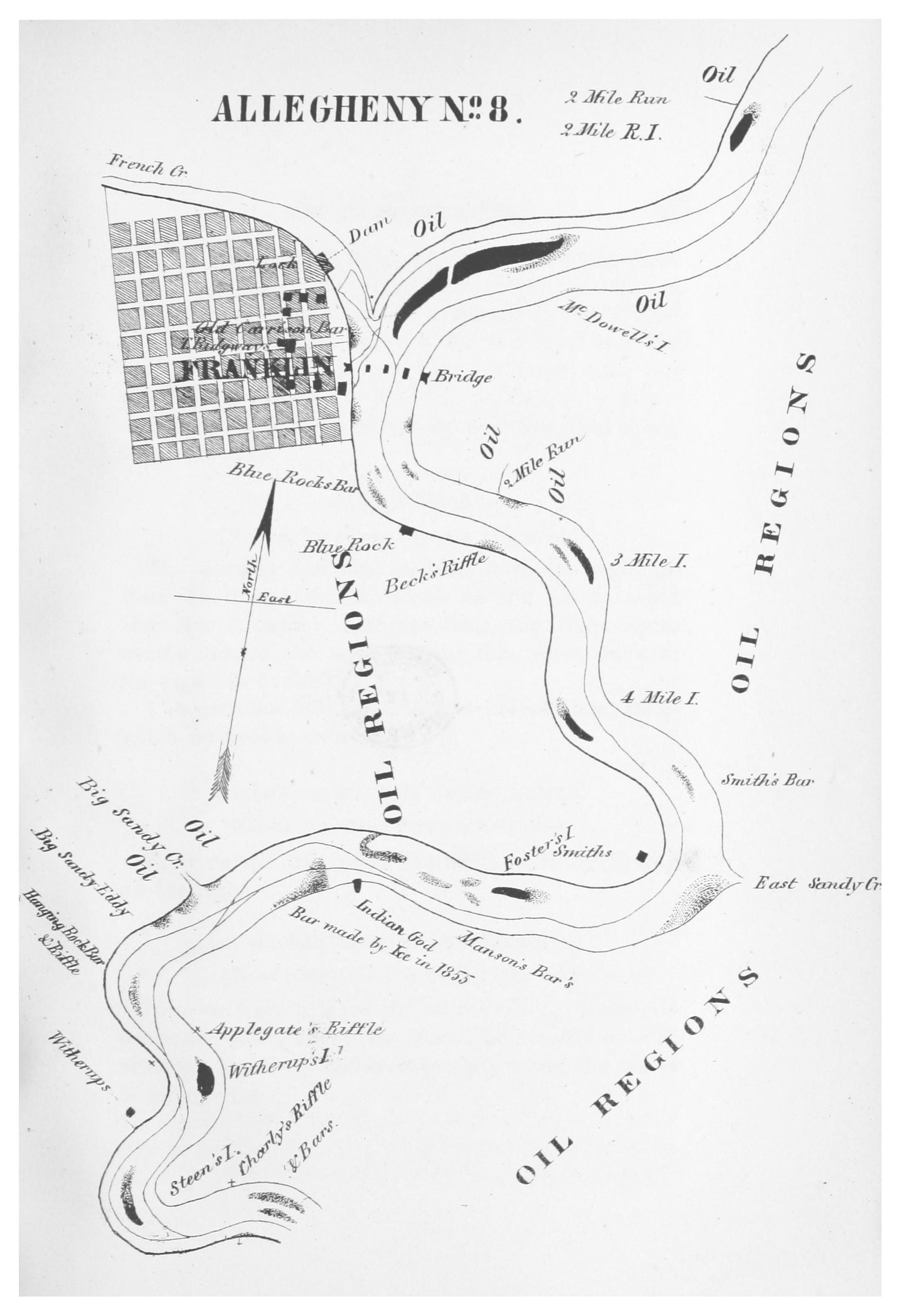 File:GILLELEN(1864) p067 Oil Creek, Allegheny River, Map 8