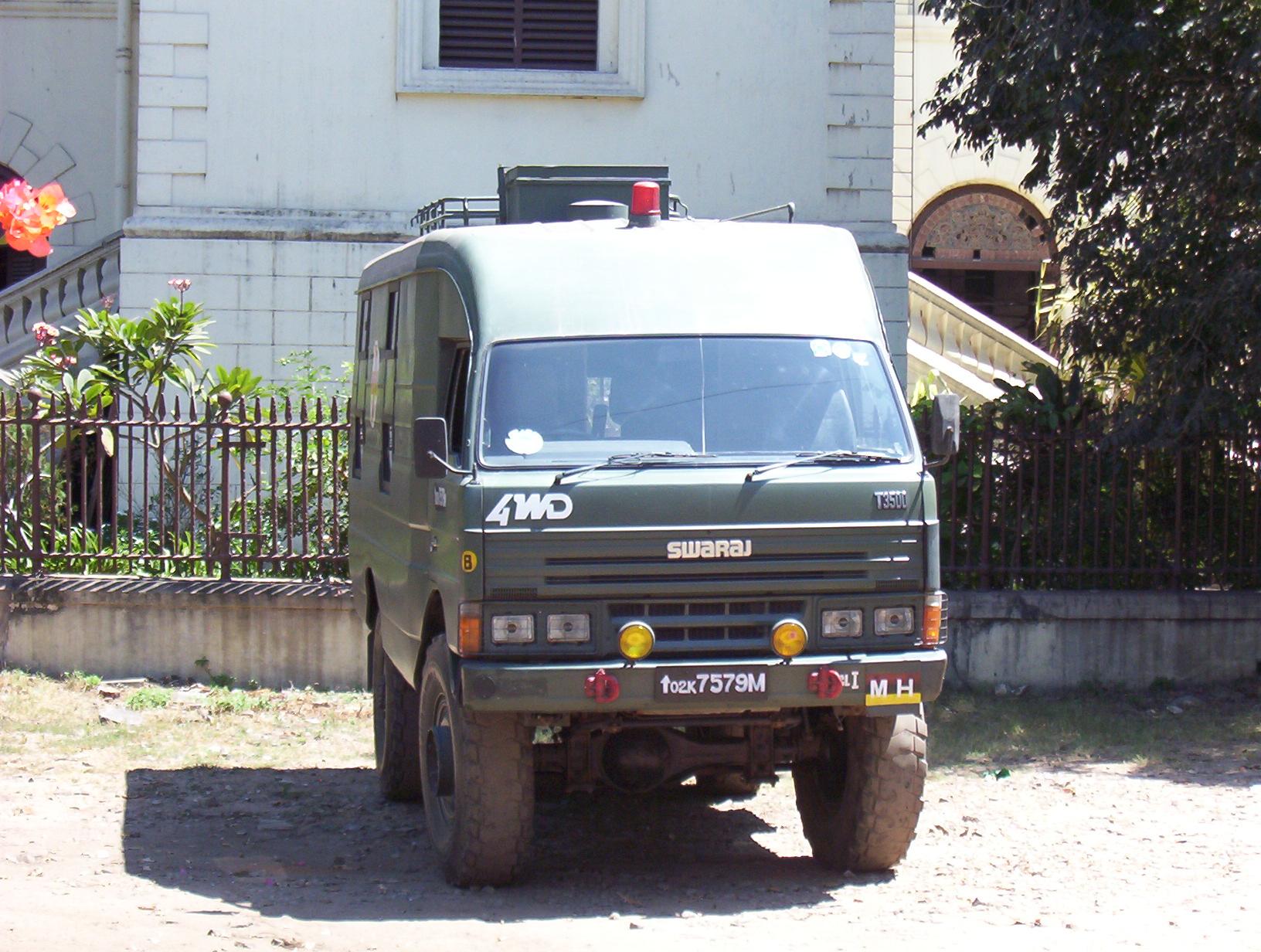 hight resolution of file india army swarajt3500 2007 front jpg wikimedia commons wiring distributor 1990 mazda 323 mazda t