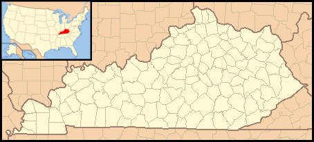 The bluegrass state of kentucky is famous for bourbon, horse racing, coal mining, and of course colonel sanders, who started his famous restaurant chain during the great depression in corbin, kentucky. File Kentucky Locator Map With Us Png Wikimedia Commons
