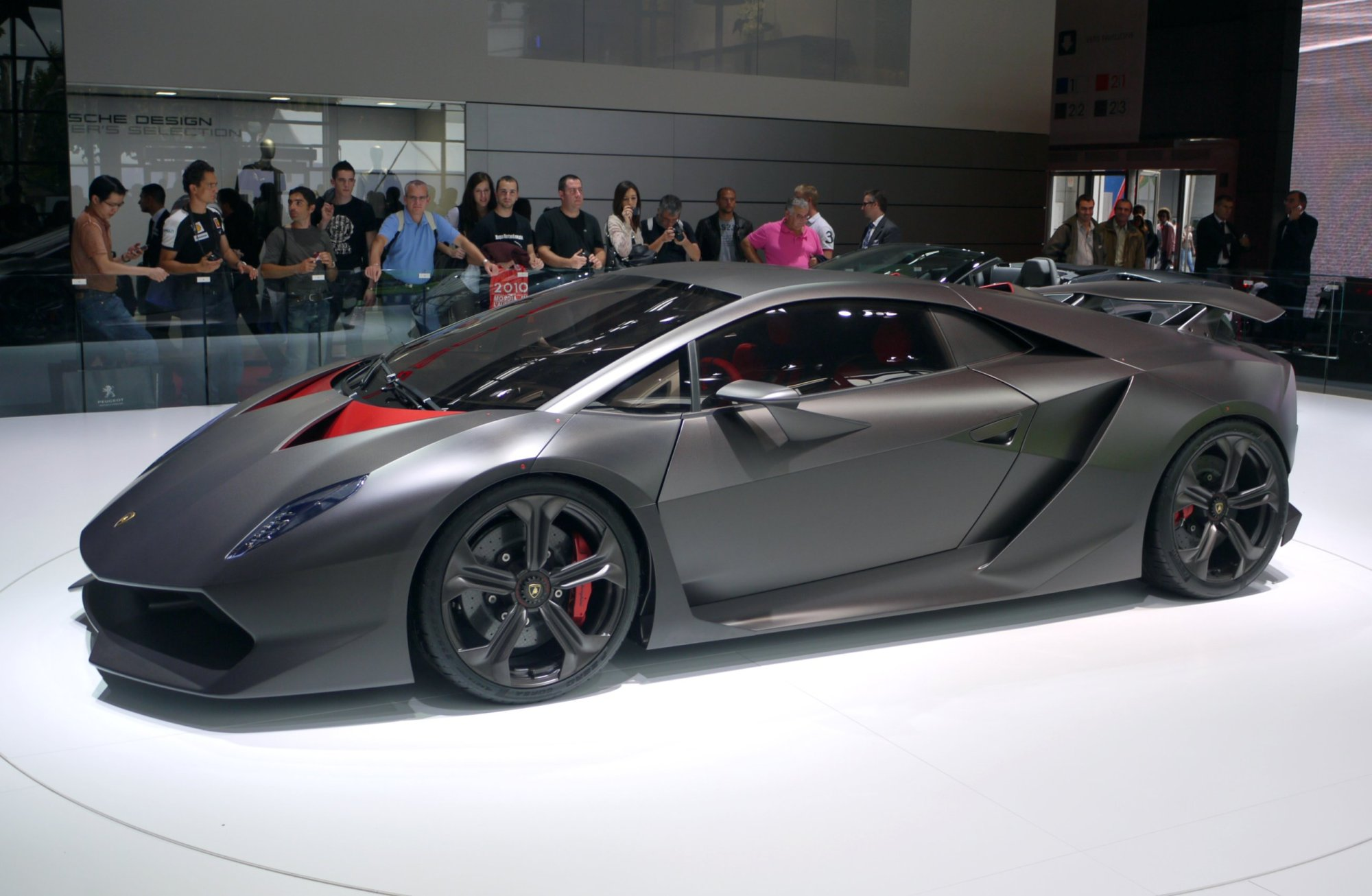 hight resolution of the sesto elemento concept on display at the 2010 paris motor show