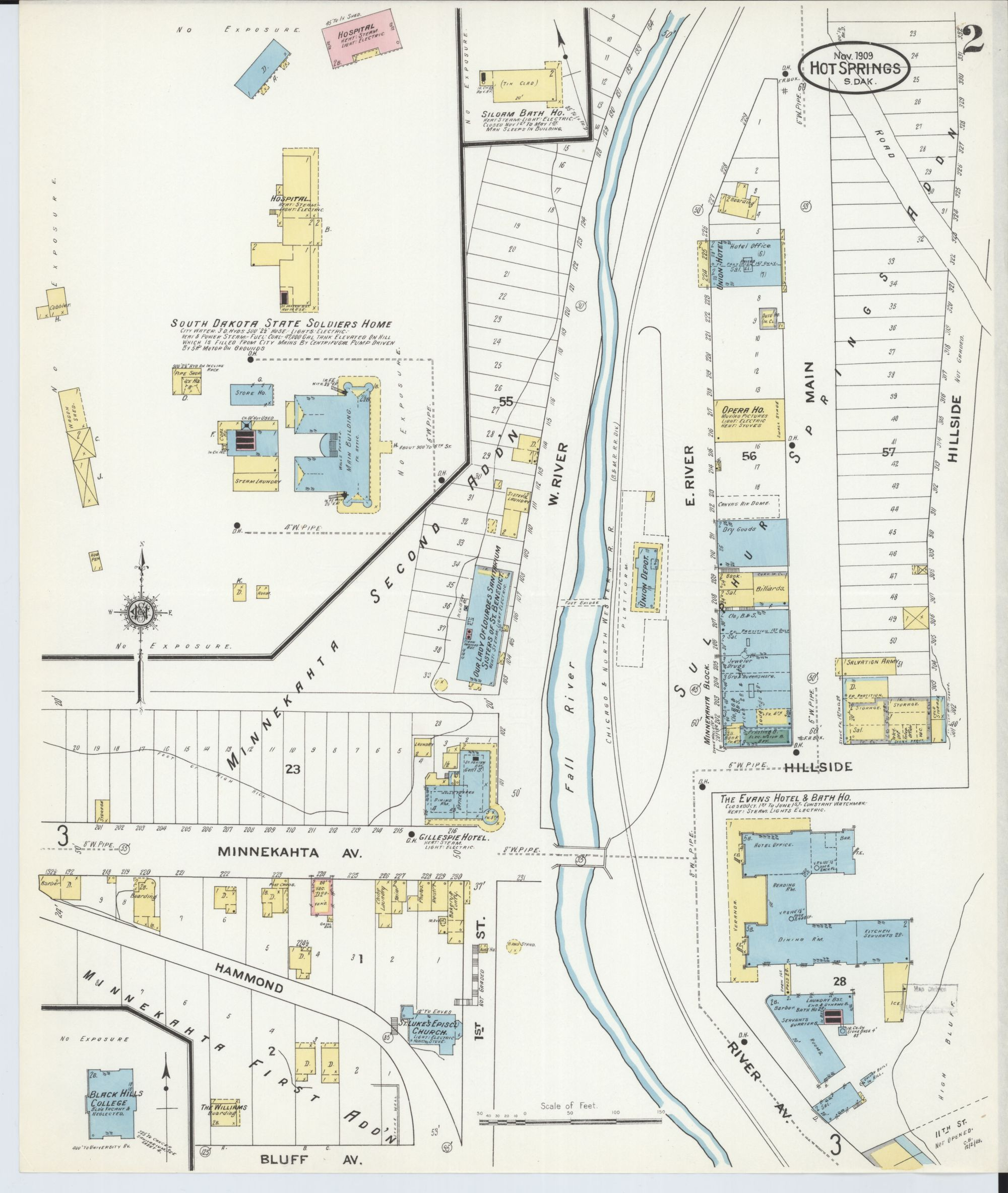hight resolution of file sanborn fire insurance map from hot springs fall river county south dakota loc sanborn08240 004 2 jpg