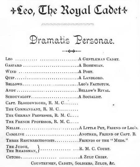 Dramatis Personæ Wikipedia