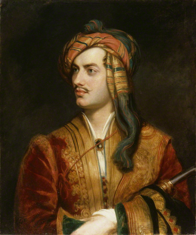 Lord Byron in Albanian dress, by Thomas Phillips (National Portrait Gallery)