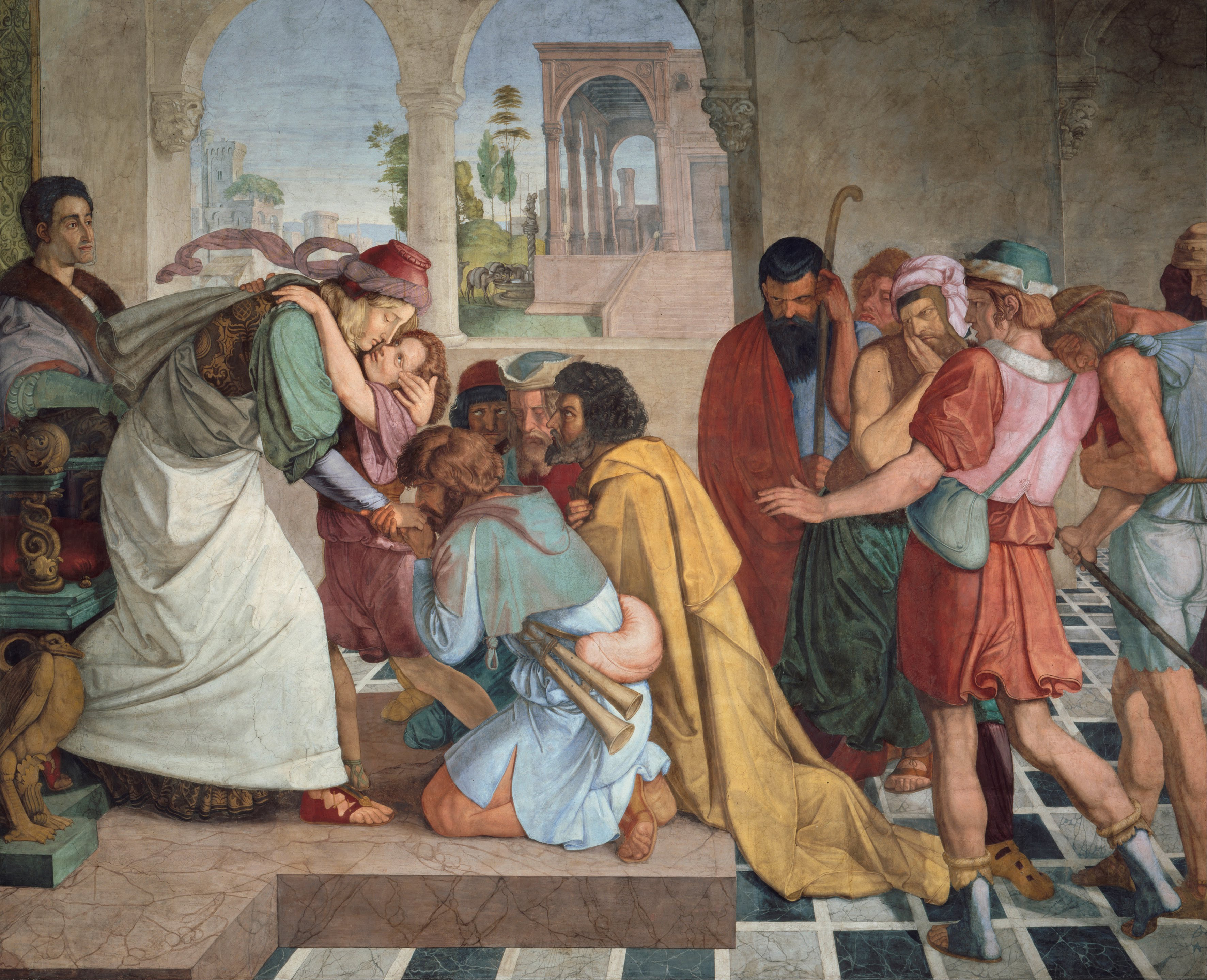 Joseph reveals himself to his brothers - painting by von Cornelius in the Public Domain