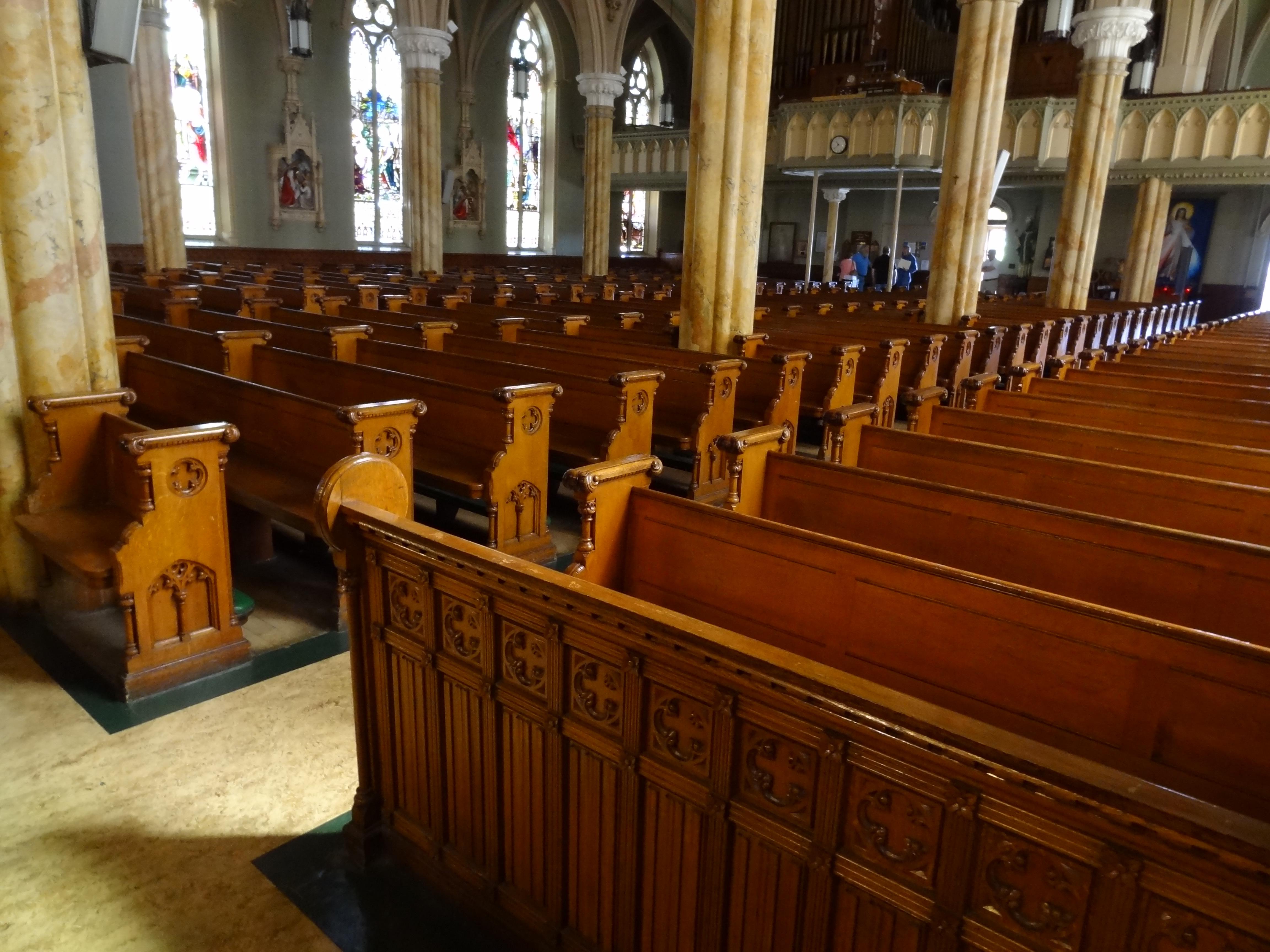 Filepews In Saint Patrick Church; Lowell, Ma; 20120519