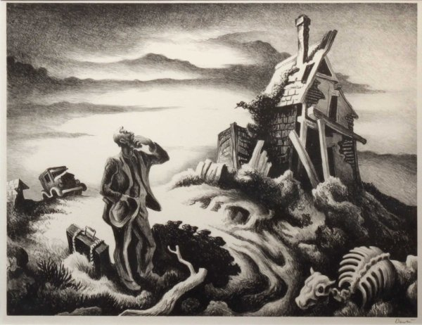 Thomas Hart Benton Dust Bowl Painting