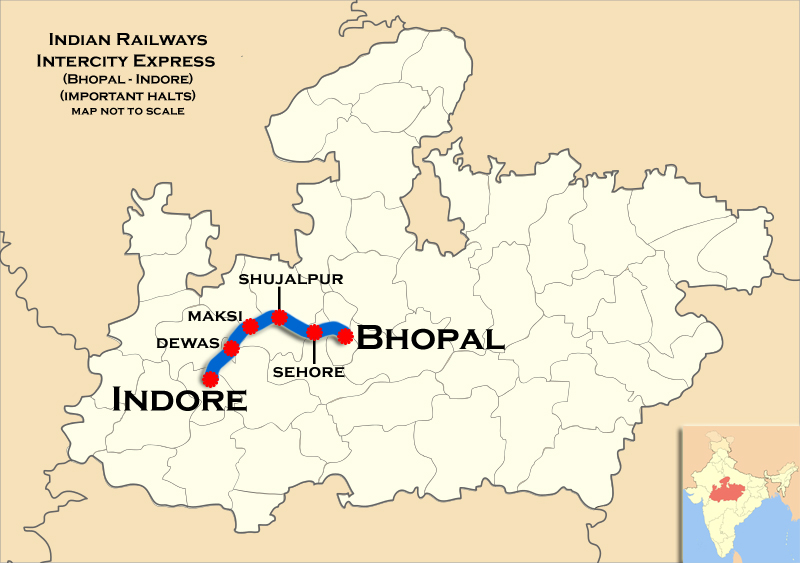 BhopalIndore AC Double Decker Intercity Express  Wikipedia
