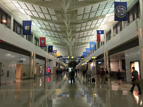 small resolution of concourse a b during the night