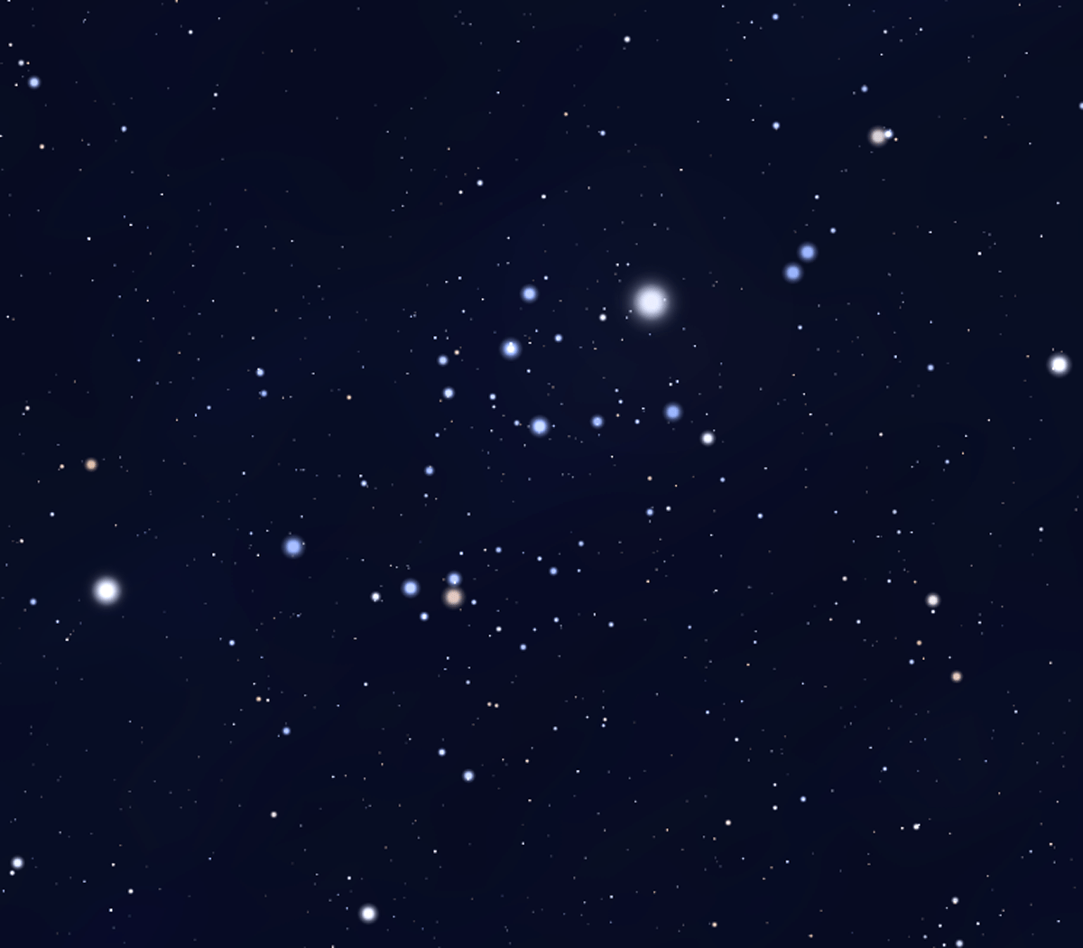 View of Alpha Persei Cluster