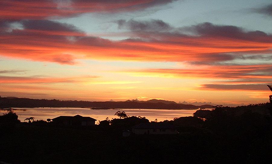 Sunrise in New Zealand