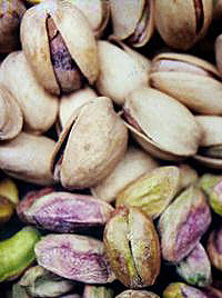 Pistachio nuts in and out of the shell