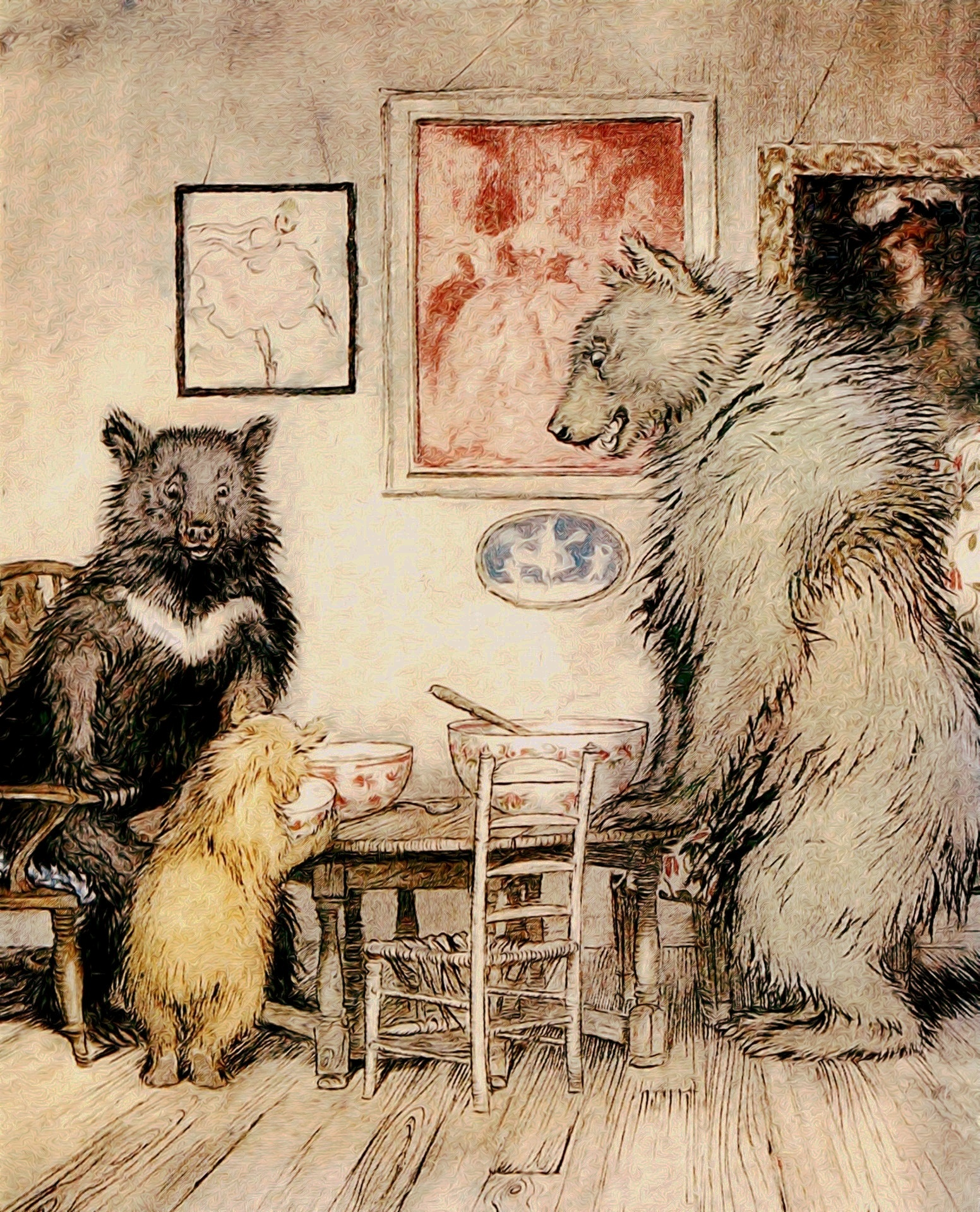 """The Three Bears"", Arthur Rackham's ..."
