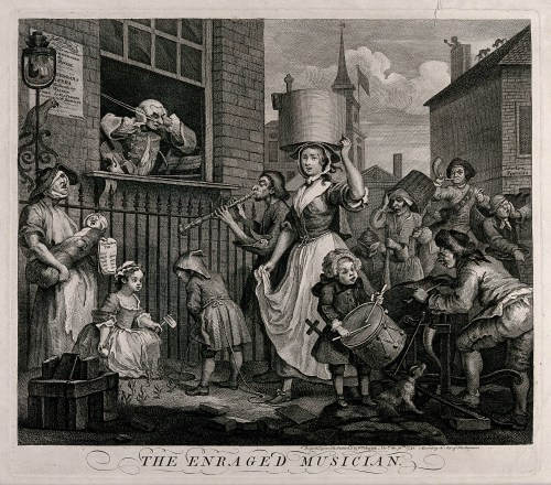 small resolution of the enraged musician with a pregnant ballad seller at left