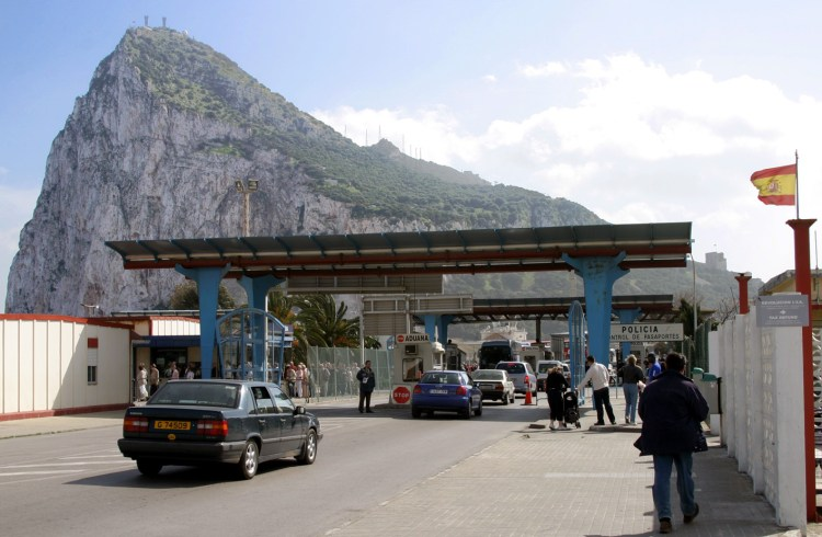 The Gibraltar-Spain border crossing, something that may soon be a thing of the past