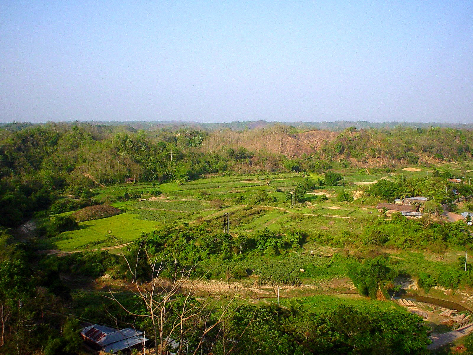 View of lush green Bandarban hills and valley