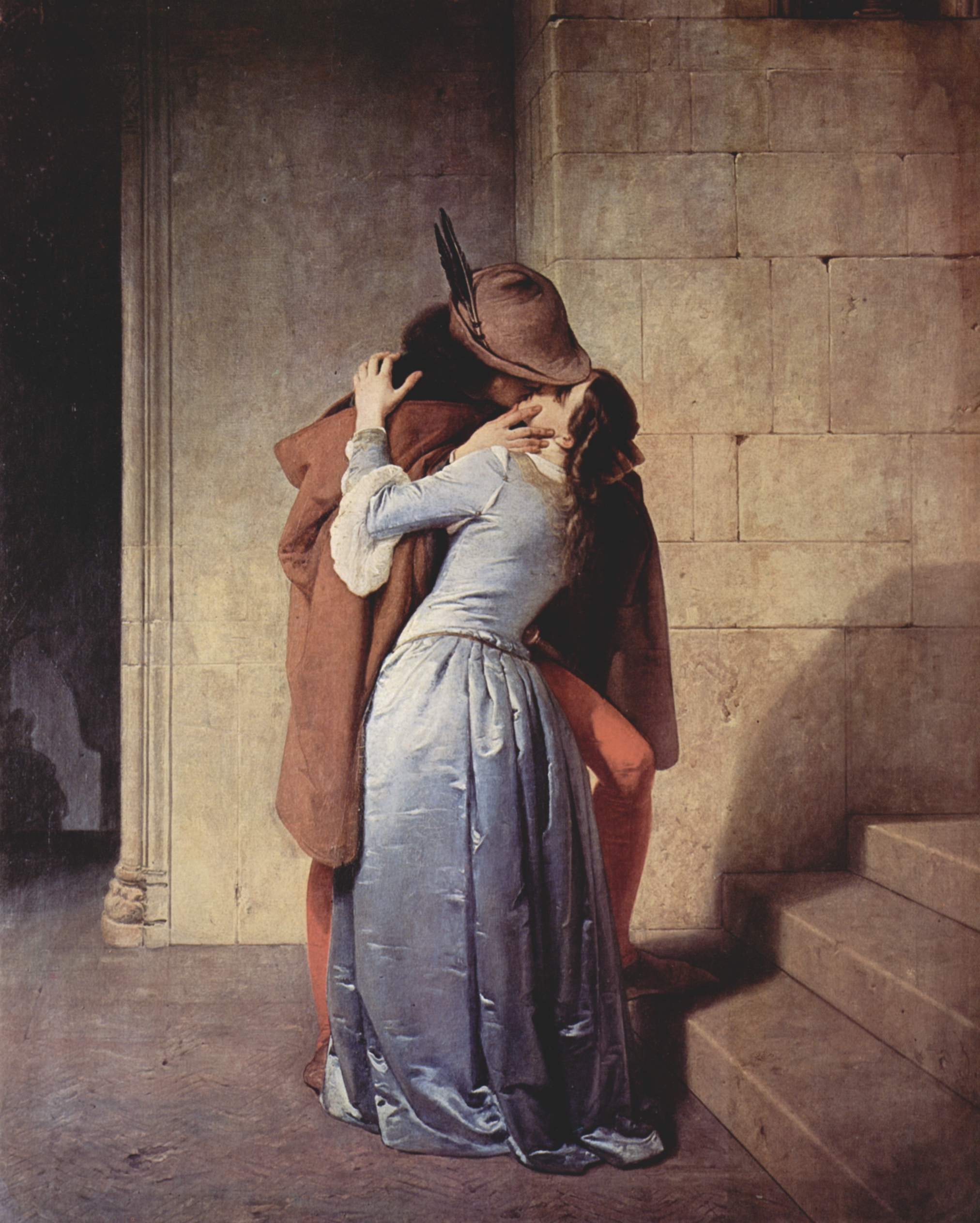 The Kiss by Francesco Hayez (1791-1882)  [Public domain], via Wikimedia Commons