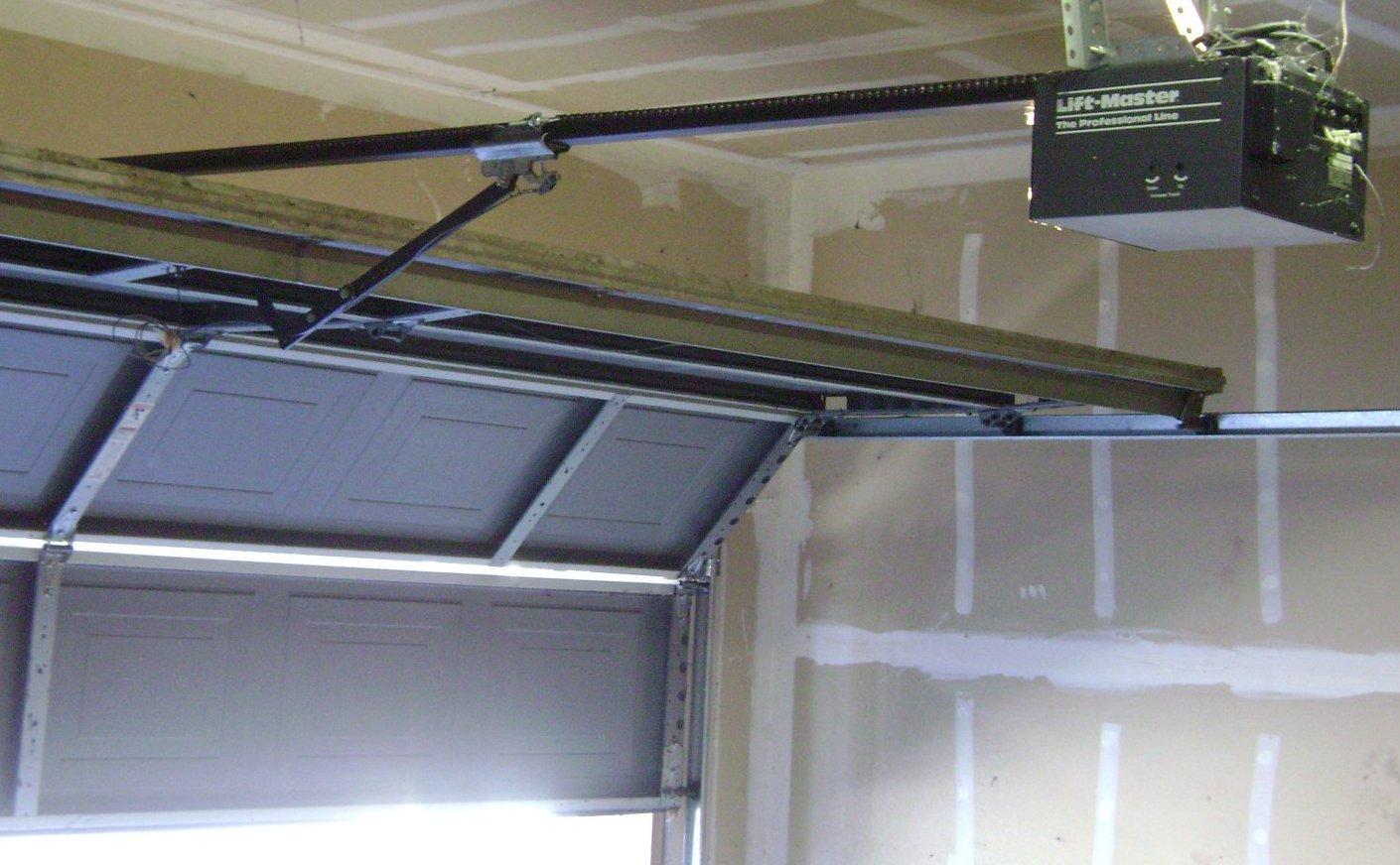 Spring garage door