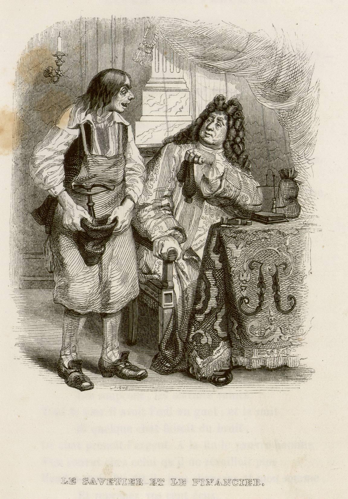 Le savetier et le financier - La Fontaine re-formé
