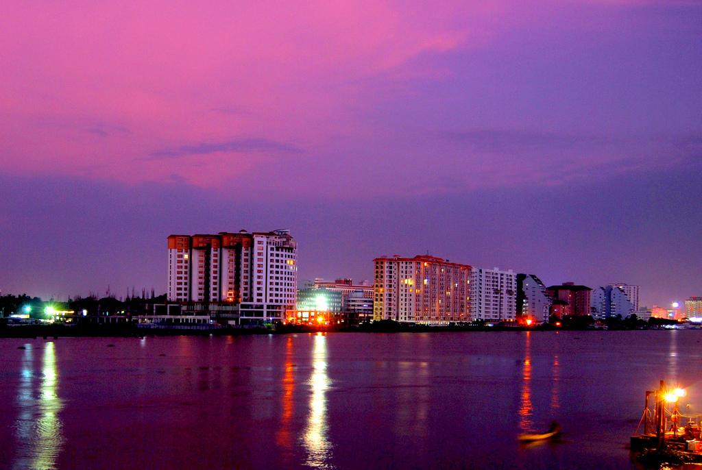 Skyline at Marine Drive, Kochi, Kerala