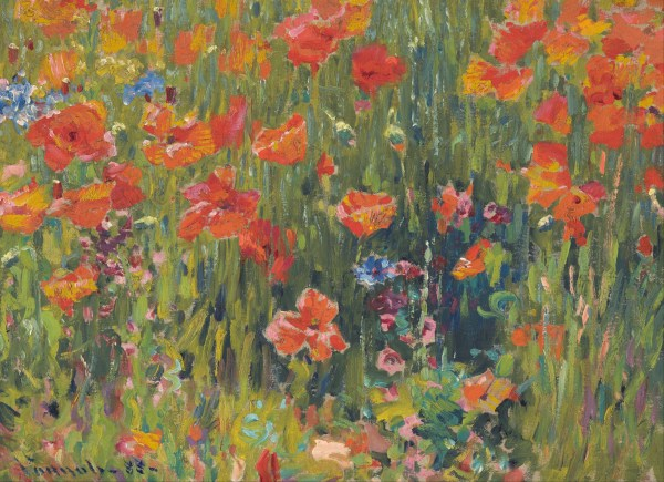 Robert Vonnoh Poppies Painting