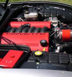 file chevrolet corvette c5 z06 ls6 engine jpg wikimedia commons 99 mitsubishi eclipse engine layout 2000 corvette engine diagram [ 1589 x 966 Pixel ]