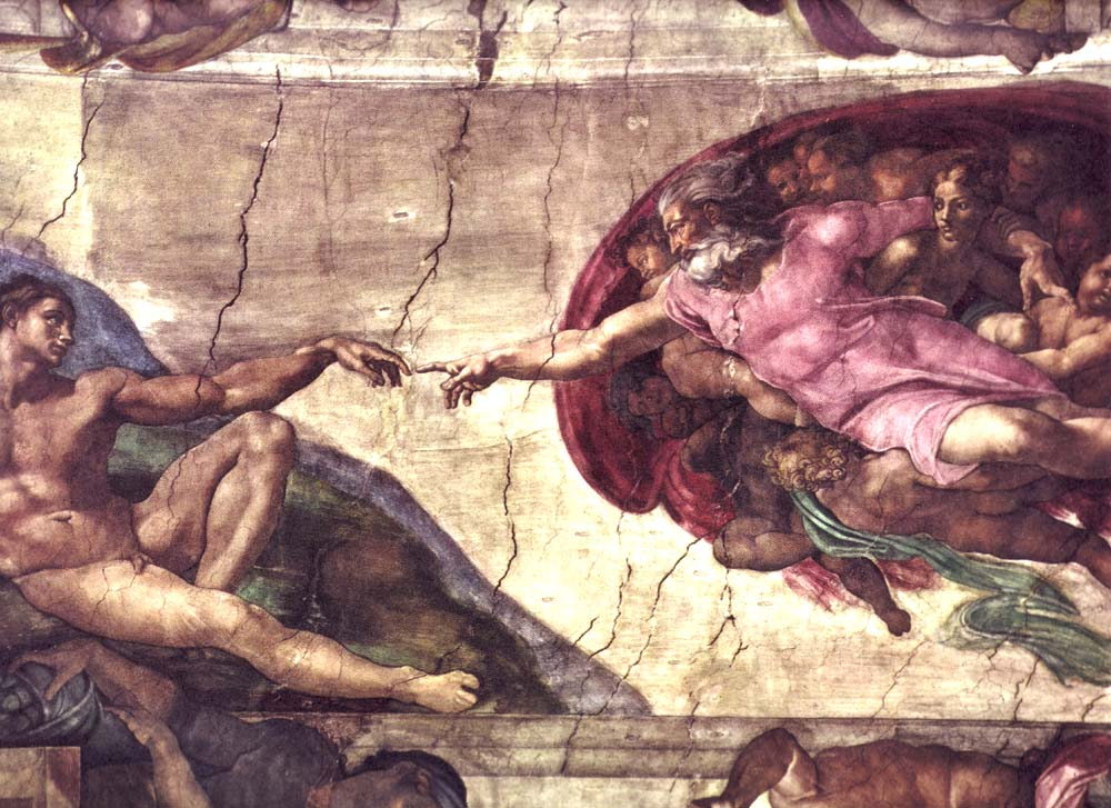 Creation of Adam by Michelangelo at Wikipedia
