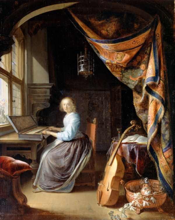 Gerrit Dou Woman Clavichord