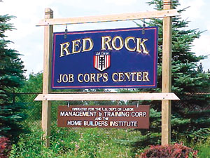Entrance sign to the Red Rock Jobs Corps Cente...