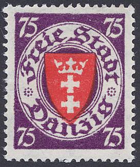 Stamp of Danzig, Michel catalogue No. 201 Coat...
