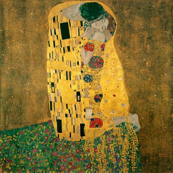 Painting by Gustav Klimt the Kiss