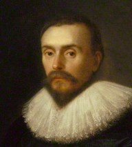 Detail from a painting of William Harvey, the ...