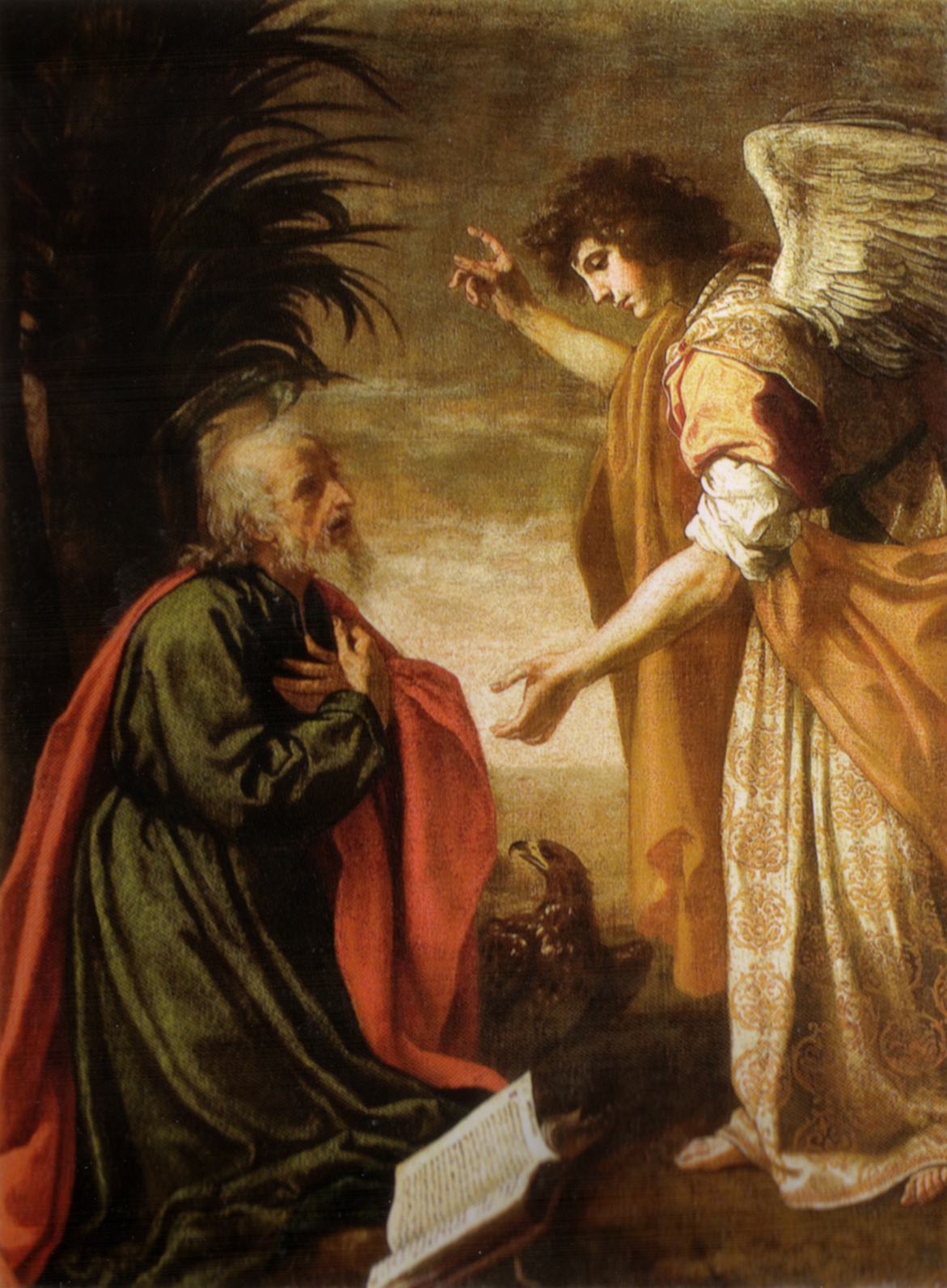 San Giovanni evangelista a Patmos by Jacopo vignali