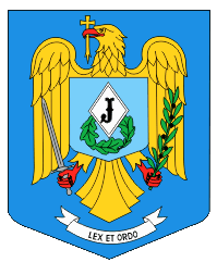 The Coat of arms of the Romanian Gendarmerie, ...