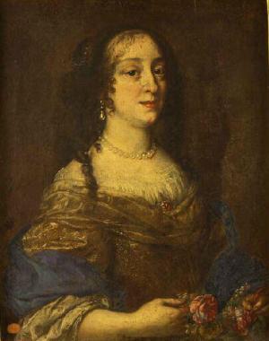 Marguerite Louise d'Orléans after Justus Sustermans, sometimes identified as Vittoria della Rovere, Chambéry ; musée des beaux-arts.jpg