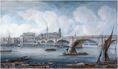 London Bridge by George Yates (1832)