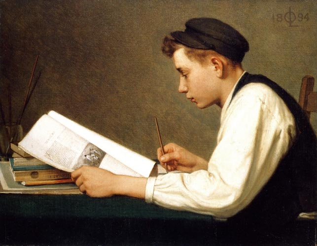 Ozias Leduc - The young student, 1894